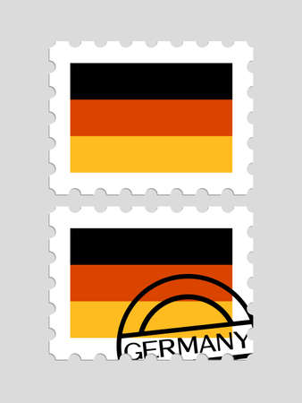 German flag on postage stamps