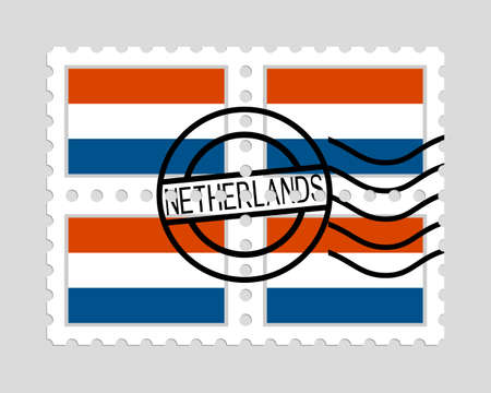 Dutch flag on postage stamps