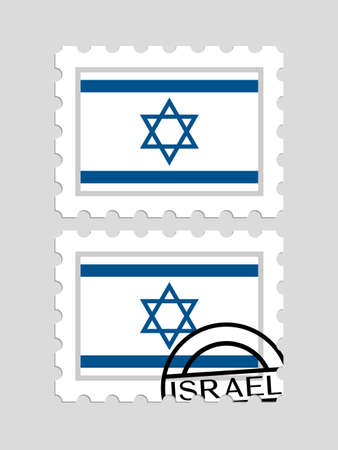 Israeli flag on postage stamps