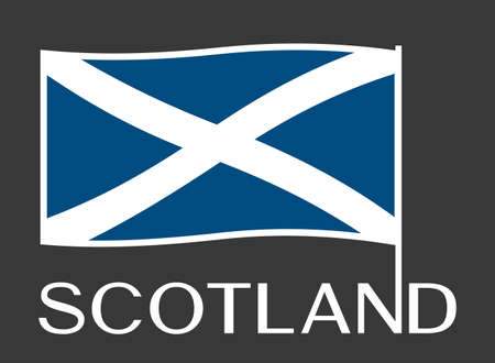 Scottish flag isolated on plain background.