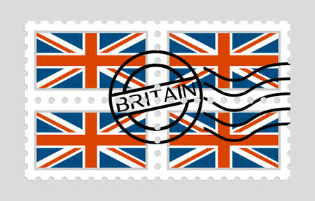British flag on postage stamps