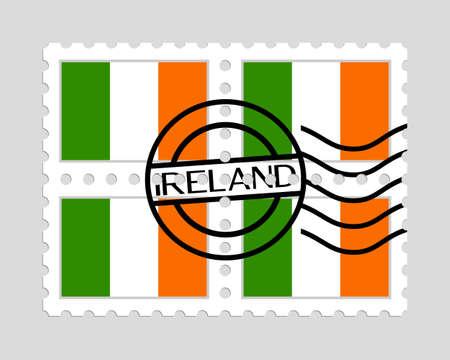 Irish flag on postage stamps