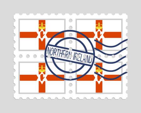 Northern ireland flag on postage stamps