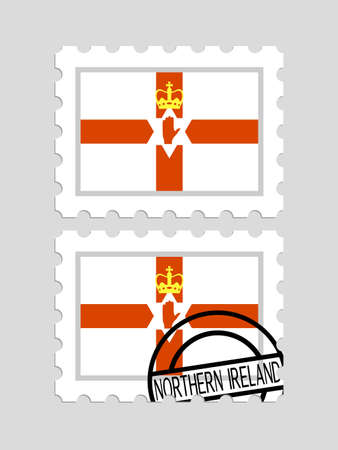 Northern ireland flag on postage stamps