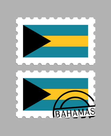 Bahamas flag on postage stamps