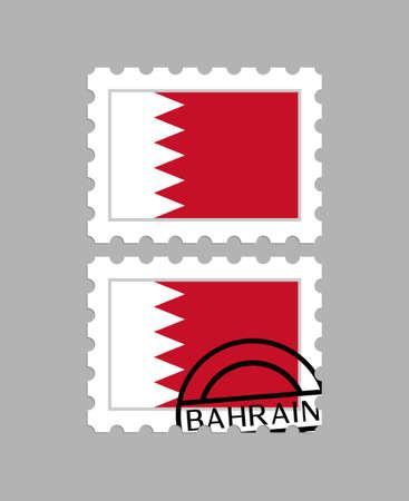 Bahrain flag on postage stamps