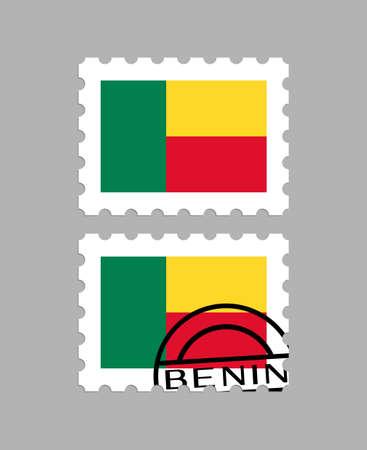 Benin flag on postage stamps