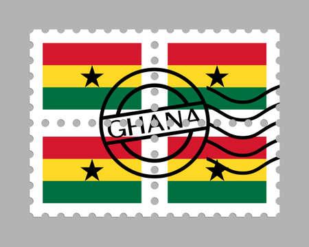 Ghana flag on postage stamps