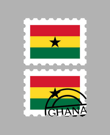Ghana flag on postage stamps