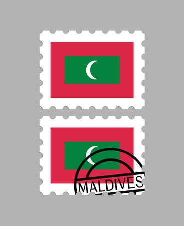 Maldives flag on postage stamps