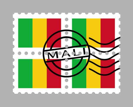Mali flag on postage stamps