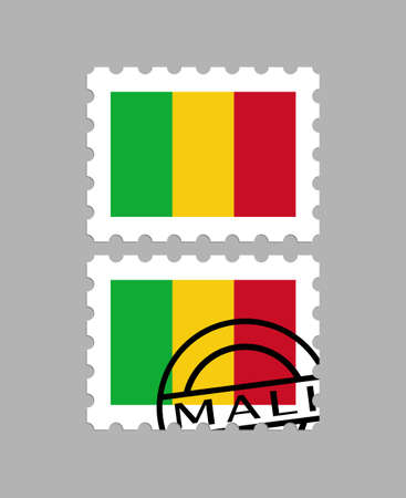 Mali flag on postage stamps