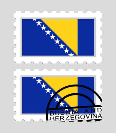Bosnia and herzegovina flag on postage stamps