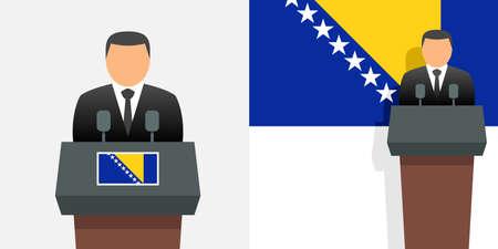 Bosnia and herzegovina president and flag