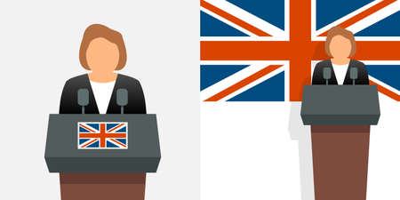 Uk prime minister and flag