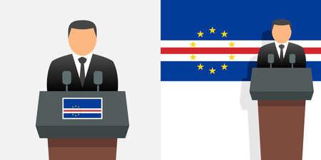 Cape verde president and flag