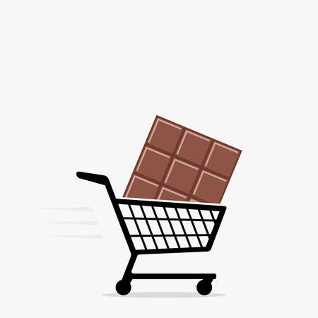 Shopping cart and chocolate icon