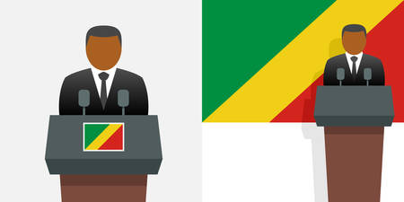 Congo president and flag