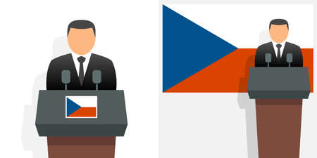 Czech republic president and flag