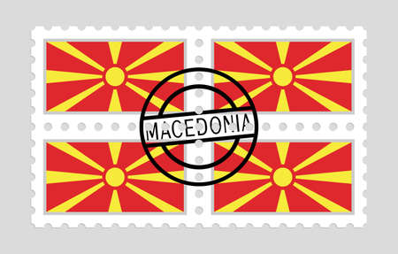 Macedonia flag on postage stamps