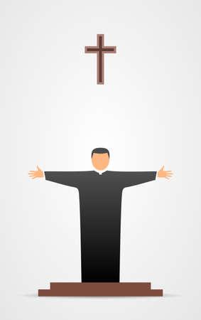 Christian pastor icon
