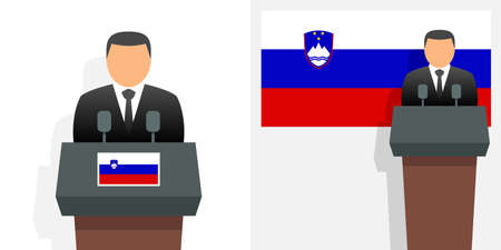 Slovenia president and flag