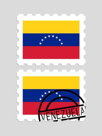 Venezuela flag on postage stamps
