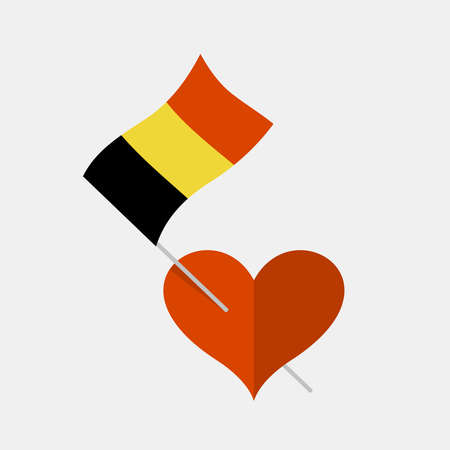 Heart icon with belgium flag