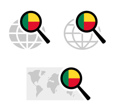 Search icons with benin flag