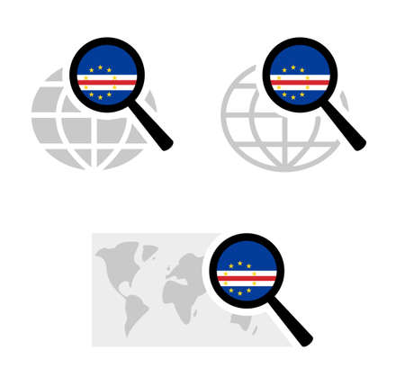 Search icons with cape verde flag