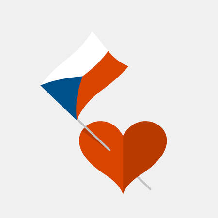 Heart icon with czech flag