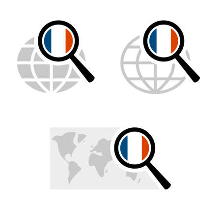 Search icons with france flag
