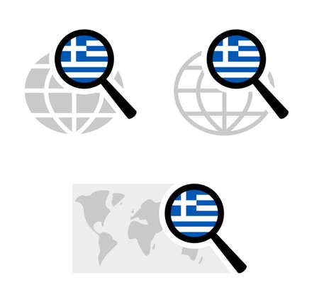 Search icons with greece flag