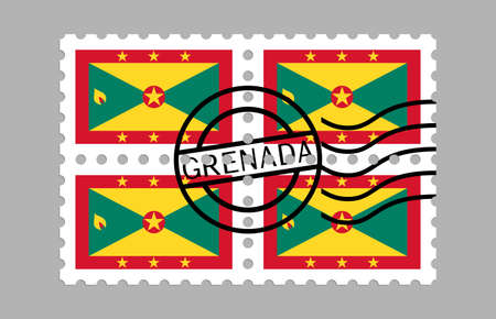 Grenada flag on postage stamps