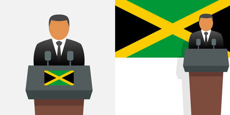 Jamaica prime minister and flag