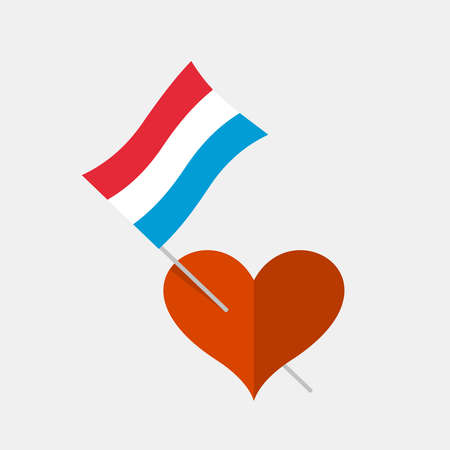 Heart icon with luxembourg flag