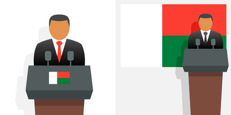 Madagascar president and flag