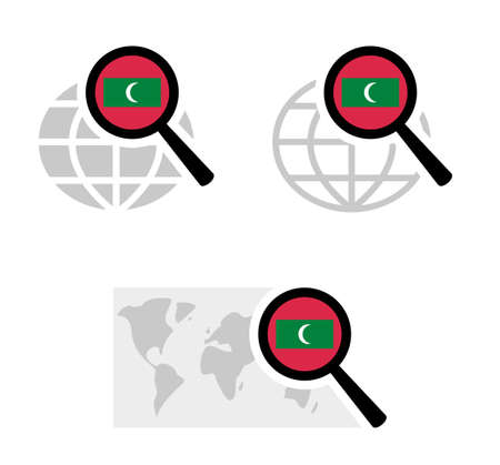 Search icons with maldives flag