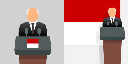 Monaco minister of state and flag Stock Illustratie