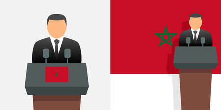 Morocco prime minister and flag