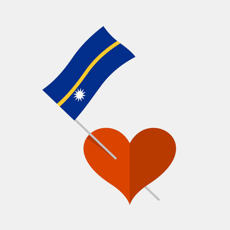 Heart icon with nauru flag