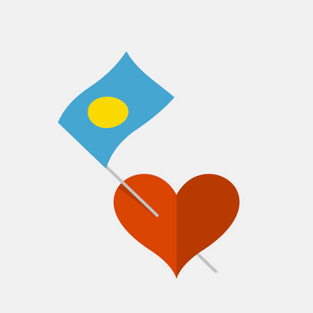 Heart icon with palau flag