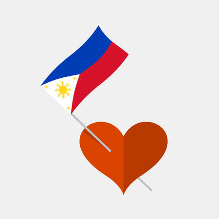 Heart icon with philippines flag