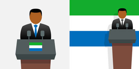 Sierra leone president and flag