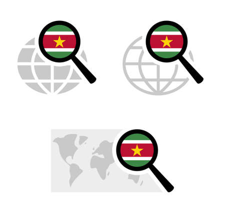 Search icons with suriname flag