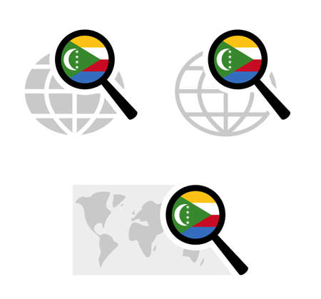 Search icons with comoros flag