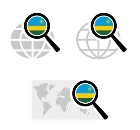 Search icons with rwanda flag