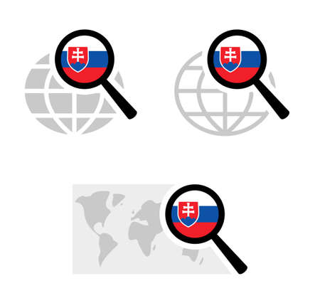 Search icons with slovakia flag