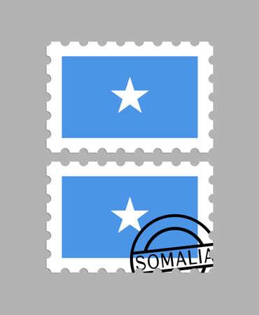 Somalia flag on postage stamps Ilustracja