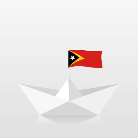 Paper boat with east timor flag 版權商用圖片 - 159959473
